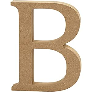 Creativ B Lettre en MDF, Marron, 13x 2cm