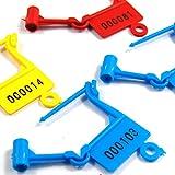 Cadenas de sécurité numéroté Multicolore avec numéro Unique pour identifier Le Joint en Plastique....
