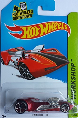 HOT WHEELS RED 2014 RELEASE TWIN MILL III WORKSHOP SERIES DIE-CAST -
