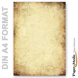 paper media lot de 20 feuilles de papier lettre a4 effet ancien 90 g m. Black Bedroom Furniture Sets. Home Design Ideas
