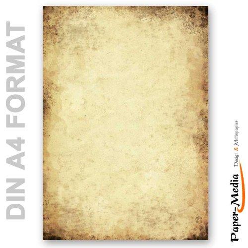Papier à motif à lettres VIEUX PAPIER 50 feuille de papier DIN A4