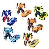 Mini Pocket Deformation Spielzeug Krieger, Kinder Deformation Spielzeug, Helden Rettungs Bots, Auto Roboter Modell perfekte Geschenk für Kinder -2-8 Jahre alt (6 Pack)