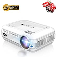 LED Video Projector 3200 lumens LESHP 1080P Mini Multimedia Projector with 1280x800 Resolution, In Your Living Room Bedroom Meet All Entertainment,Games,Video Viewing