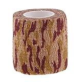 Sharplace Mehrzweck Selbstklebend Elastische Bandage Camo Tape Bandage - Ahornblatt Camo