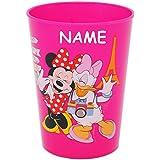 """3 in 1 - Trinkbecher / Zahnputzbecher / Malbecher - Becher - """" Disney Minnie Mouse - PINK """" - 280 ml - Trinkglas aus Kunststoff Plastik - für Kinder - Mädchen - mehrweg - Kindergeschirr - Kinderglas - Kinderbecher Camping Set / Plastikbecher - Kunststoffbecher / Trinklernbecher bunt - Geschirr - Maus / Playhouse - Daisy Mickey - Blumen Herzen - Campingbecher / Campinggeschirr - Plastikgeschirr"""
