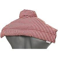 Leinsamenkissen Schulter & Nackenkissen mit Kragen | Bio-Stoff rot-weiß | Gute Wärme für den Nacken | Eine Alternative... preisvergleich bei billige-tabletten.eu
