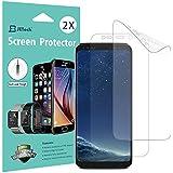Protection écran Galaxy S8, [Couverture Complète], JETech Lot de 2 TPE Film Protège d'écran pour Samsung Galaxy S8