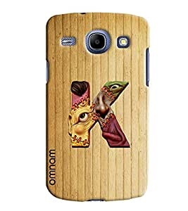 Omnam Single Name Stylish Alphabet K Printed Designer Back Cover Case For Samsung Galaxy Core i8262