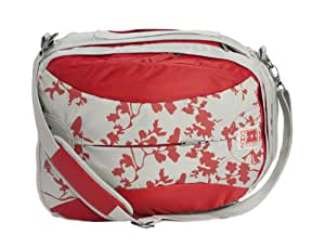 Babymule Original Baby Changing Bag in Red/Grey with Woodland Print. Includes Full Accessories Kit