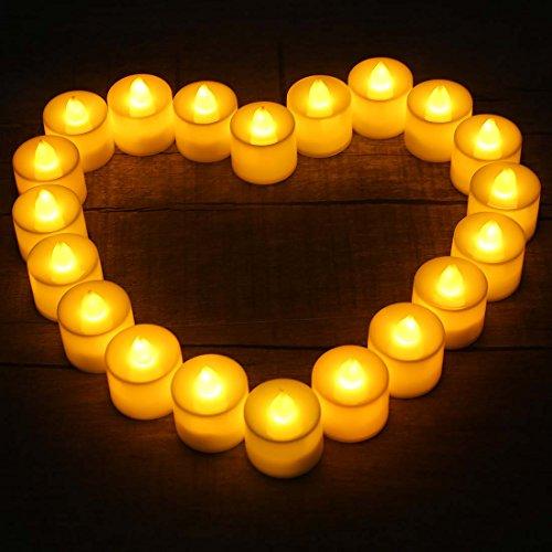 Avery Granero 20 Piezas Naranja Luz Parpadeante Efecto decorativo plástico led vela juego