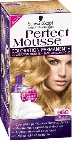 Schwarzkopf - Perfect Mousse - Coloration Permanente - Blond Doré 950