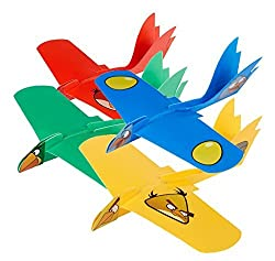 (4 Variety Pak) Super Looper Angry Birds Indoor/Outdoor Boomerang Plane- Red, Blue, Yellow Boomerang