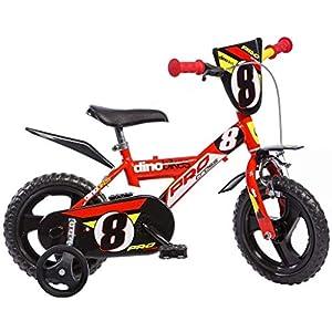 """51OQy7MPARL. SS300 Dino Bikes 143 GLN bicicletta 14"""" serie 23 con rotelle e doppio freno per bambini dai 4 ai 7 anni"""