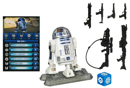 Star Wars Hasbro Figures Legends saga R2D2 - Star Wars action figure with game card