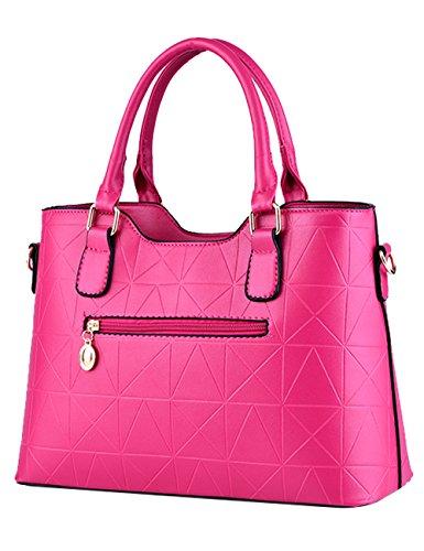 Menschwear Leather Tote Bag lucida PU nuove signore borsa a tracolla Viola Rosa 1