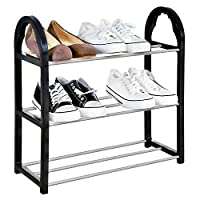 Knight 3/5 -Tier Shoe Rack, Storage Shelves, Holds up to 6 Pairs of Shoes, for Living Room, Hallway and Cloakroom, Sturdy Design Space Saving, Easy Assemble - No Tools Required.