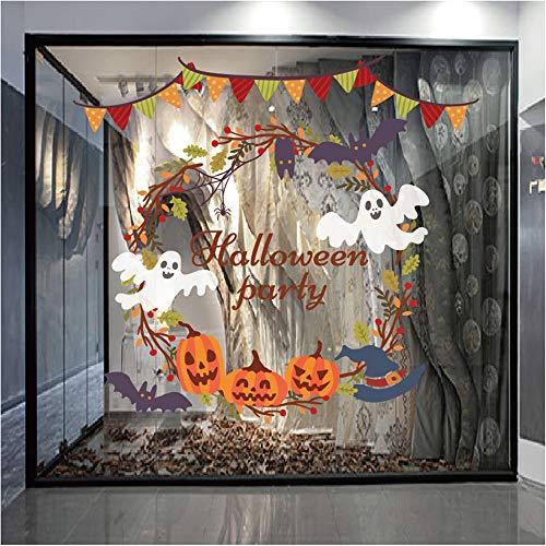 Reinigen Kostüm Statische - QinMM W Halloween Dekoration,Halloween Statische Elektrizität Wandaufkleber Fenster Dekoration Aufkleber Dekor