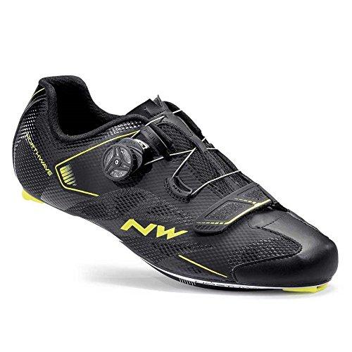 Northwave Sonic 2 Plus Wide Rennrad Fahrrad Schuhe schwarz/gelb 2017 black/yellow fluo