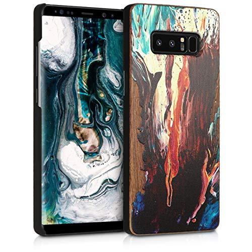 kwmobile Samsung Galaxy Note 8 DUOS Hülle - Handy Schutzhülle aus Holz - Cover Case Handyhülle für Samsung Galaxy Note 8 DUOS