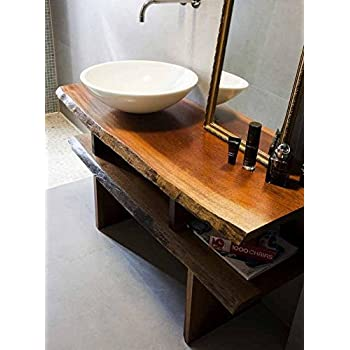 Mobile arredo bagno mensola per lavabo piano d 39 appoggio for Arredo bagno amazon