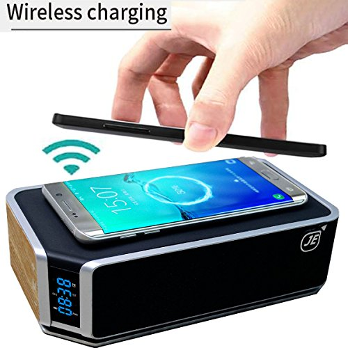 Qi-Kabelloser Ladegerät (induktiv) + Bluetooth® CSR 4.0 Lautsprecher in Einem. Kabelloses Laden...