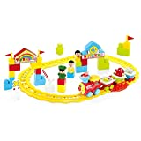 Baoli Mega Track Bausteine Spielzeug Cartoon Zug Set mit Licht und Musik