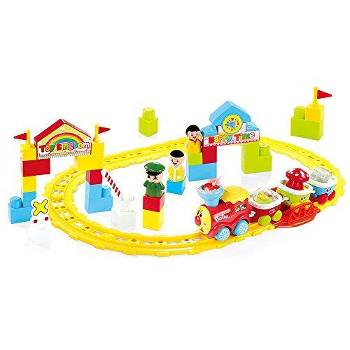 BAOLI Juego clásico del Tren del Juguete - Pistas y Accesorios, Coches del Tren para los niños de los más Viejos y los más Viejos