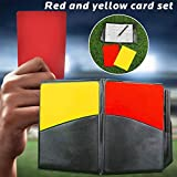 pegtopone - Set di Biglietti da Arbitro, per Calcio, Basket, Calcio, Scuola, Emergenza, Colore: Rosso e Giallo