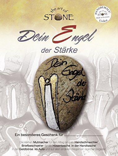 The Art of Stone handbemalter Stein, Dein Engel der Stärke, kleines Geschenk der Aufmerksamkeit aus Naturstein -