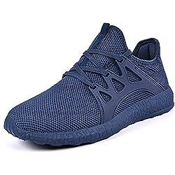 QANSI Hombre Zapatos Deportivos de Gimnasia Zapatillas de Deporte al Aire Libre para Hombre Azul 46