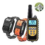 Kuaker Hundetrainingsgerät, Halsband-Trainingshund, Fernsteuerungs-Hundehalsband, Haustier mit Sprachsteuerung, Stop Device880,BlackOrange
