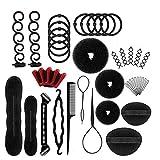 Accessoires de Coiffure, 40 pcs Hair Styling Set d'Outils de Coiffure Cheveux Accessoires pour Femmes et Filles Convient pour Les Débutants