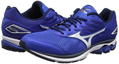 Mizuno Men's Wave Rider 20 Blue (Nautical Blue/White/Dress Blues) Running Shoes – 9.5 UK