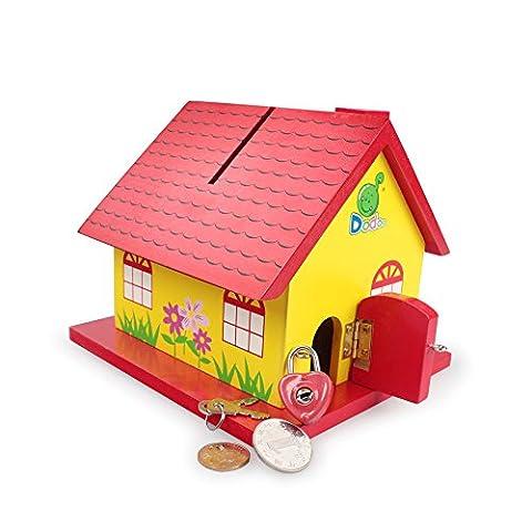 Xiduobao pour enfant Cadeau Maison de dessin animé en bois