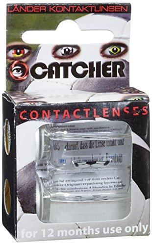 Eyecatcher Color Fun, Farbige Kontaktlinsen, Fußball, Jahreslinsen weich, 2 Stück/BC 8.6 mm/DIA 14.5 mm / 0.00 Dioptrien