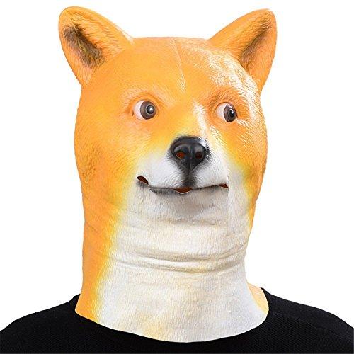 Kostüme Hund Labor Halloween (Auspicious beginning Neuheit Latex Tier Kopf Kostüm Maske, Hund Kopf Maske)