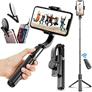 Gimbal Stabilizer for Phone Bluetooth Selfie Stick Tripod Anti-Shake Handheld Cell Phone Tripod Stand Holder