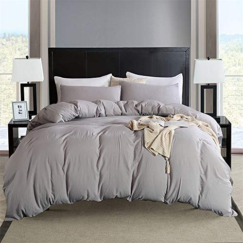SHJIA Bettwäsche Set Color Set Hochwertige Polyester Quilt Bettbezug Kissenbezug C 228x228cm