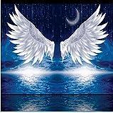 Mondmond-Meteorenengel Des Nächtlichen Himmels Hd 3D Tapeziert Wanddekorationhintergrund-Wandanstrich-(W)400x(H)280cm