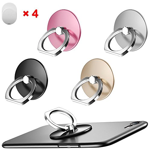 Cell Phone Ring Holder Universal Smartphone Ring Grip Stand Car Mount 360 Rotation For Iphone Ipad Samsung Htc Google Pixel Nokia Lg Tablets
