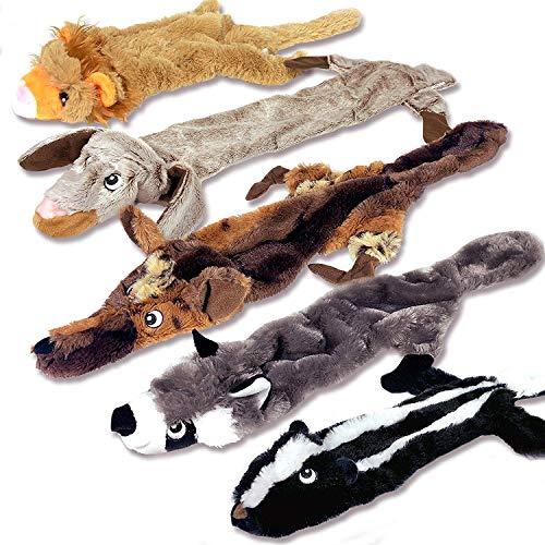 Quietschendes Hundespielzeug - Keine Füllung Hundespielzeug-Set - Keine Gefährlichen Flusen Zum Kauen Oder Schlucken - Großes Plüsch-Hundespielzeug Für- - Packung Mit 5 Stück -