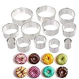 Edelstahl Runde Ausstechformen Set-Backen Ring Passt Für Teig, Fondant, Donut und Muffins Elegante Geschenk