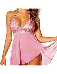 lencería sexy mujer tallas grandes navidad disfrazarse picardías babydoll y tanga para mujer open crotch cuerpo de vestidos atractivo ropa de dormir erotica con ropa interior mujer sexy rosa