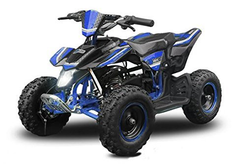 "Mini Quad Madox Premium Easy Starter 49cc 6\"" ATV Quad Kinderfahrzeug Kinderquad Bike Pocket (Blau)"
