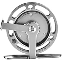 Carrete de Pesca con Mosca Ligera de Aleación de Aluminio Mecanizada Precisión con Doble Sistema de Frenos para Pesca(Mano Izquierda)