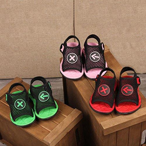 Bild von QinMM Kinder Kind Schuhe, Infant Jungen Mädchen Weiche Mesh Sandalen Strand Meer Slipper Casual Unisex Sommer Schuhe Grün Rot Rosa 21-30