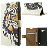 Fierce Tiger Wallet Leather Stand Tasche Hüllen