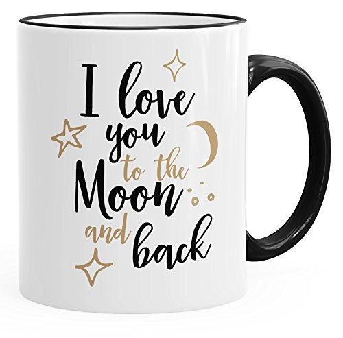 MoonWorks Kaffee-Tasse I Love You to The Moon and Back Geschenktasse Liebe Partnerschaft