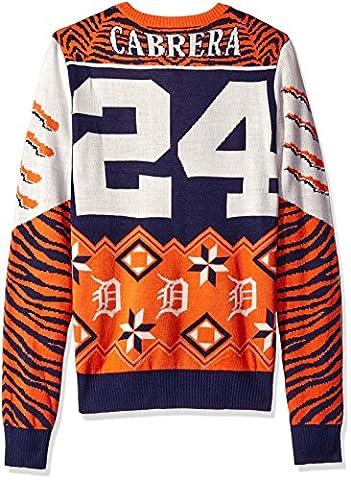 MLB Player Nom et numéro Ugly Pull, Homme mixte, Orange