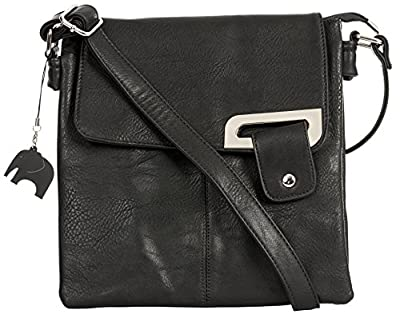 Big Handbag Shop Womens Medium Trendy Messenger Cross Body Shoulder Bag With a Branded Protective Storage Bag and Charm
